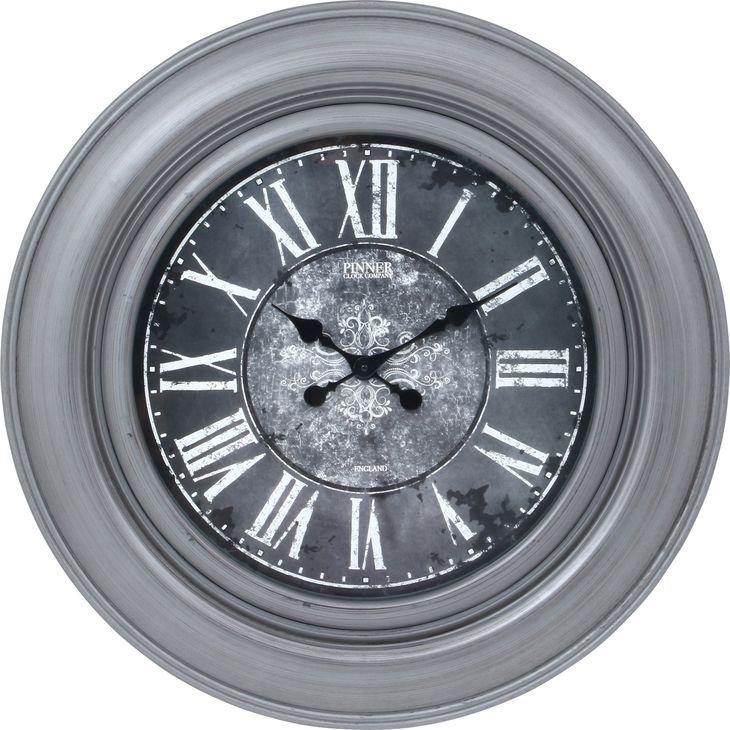 ★クーポンで200円OFF★【送料無料】時計 掛時計 掛け時計 大きい時計 ビッグ 壁掛け 大きい 時計 灰色 グレー 丸型 時計 丸時計 おしゃれ かっこいい とけい【代引き・後払い不可】