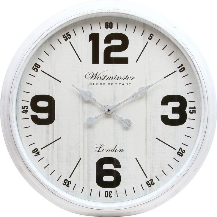 ★20時~4H全品P5倍★【送料無料】時計 掛時計 掛け時計 大きい時計 ビッグ 壁掛け 大きい 時計 白 ホワイト 丸型 時計 かわいい おしゃれ とけい 75cm【代引き・後払い不可】