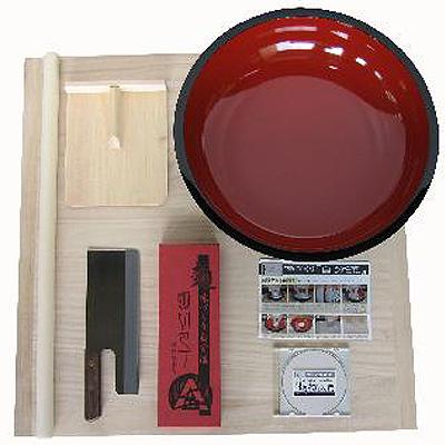 豊稔企販 普及型麺打セット(大) そば・うどん「麺打入門」DVD付 A-1260 4543983512604