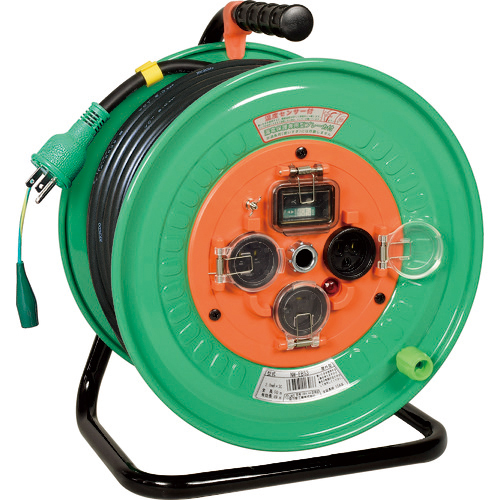 日動工業 日動 電工ドラム 防雨防塵型100Vドラム アース漏電保護しゃ断器付 50m NW-EB53