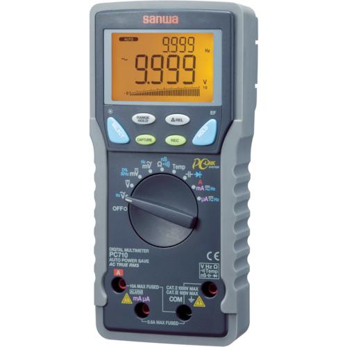 三和電気計器 SANWA 真の実効値対応デジタルマルチメータ パソコン接続型 PC710