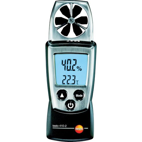 送料無料 テストー ポケットラインベーン式風速計 返品送料無料 tr-3337456 TESTO410-2温湿度計付 2020 新作
