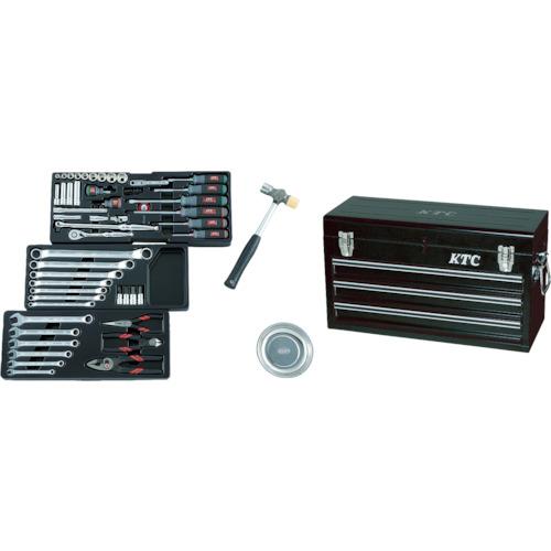 京都機械工具 KTC 9.5sq.工具セット(チェストケース) SK3650XBK