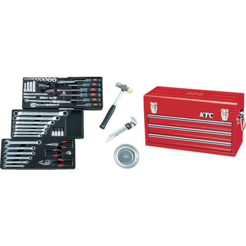 京都機械工具 KTC 9.5sq.工具セット(チェストケース) SK3650X