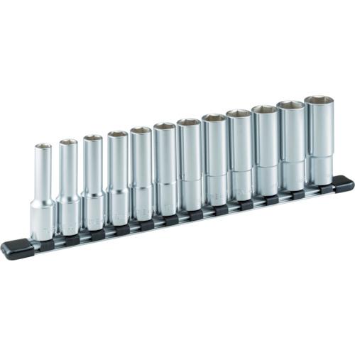 前田金属工業 TONE ディープソケットセット(6角・ホルダー付) 12pcs HSL412 HSL412