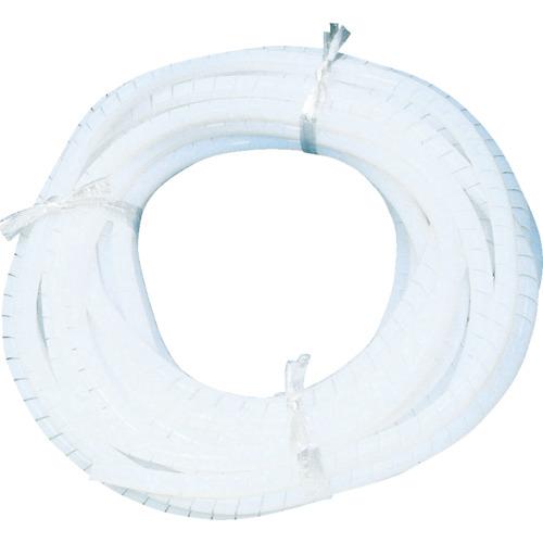 フロンケミカル フロンケミカル フッ素樹脂(PTFE)スパイラルチューブ 10φ×12φ×10m NR0514-04