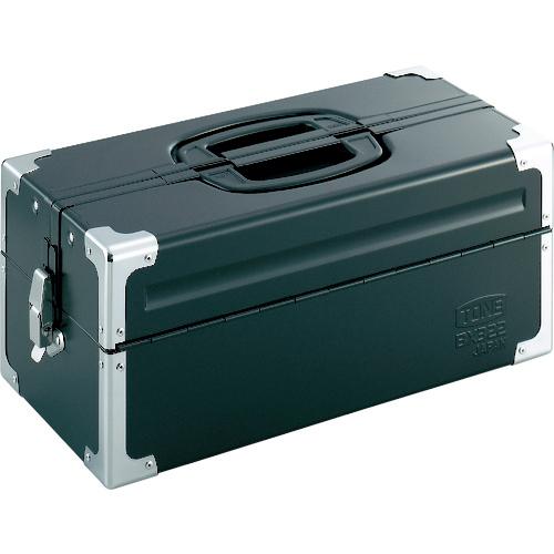 前田金属工業 TONE ツールケース(メタル) V形2段式 マットブラック BX322BK BX322BK