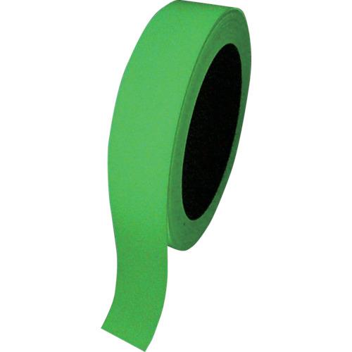日本緑十字社 緑十字 高輝度蓄光テープ 25mm幅×10m 屋内用 PET 072004