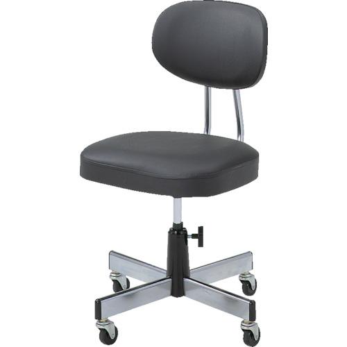 トラスコ中山 TRUSCO オフィスチェア黒標準事務椅子 L-2095 L-2095