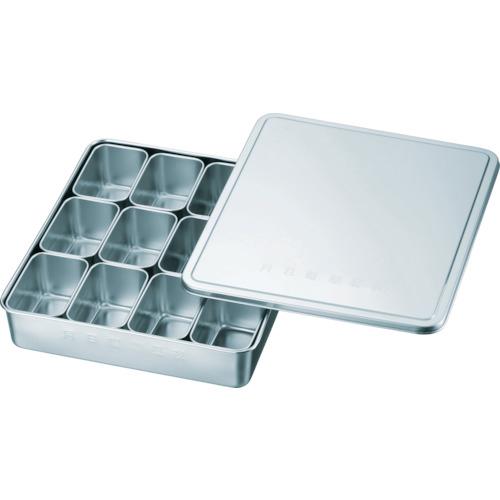 スギコ産業 スギコ 18-8検食用容器 田型日付入 12個入 326×285×46 KS-001 KS-001