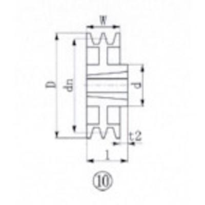 エバオン EVN ブッシングプーリー SPA 315mm 溝数2 SPA315-2 (SPA3152) SPA315-2