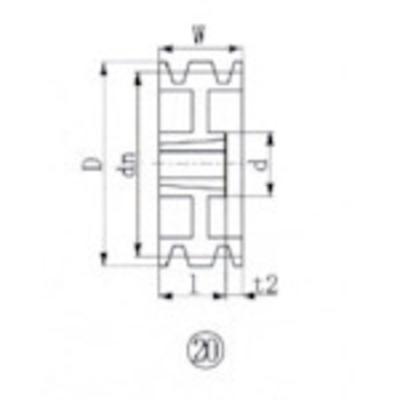 エバオン EVN ブッシングプーリー SPB 212mm 溝数3 SPB212-3 (SPB2123) SPB212-3