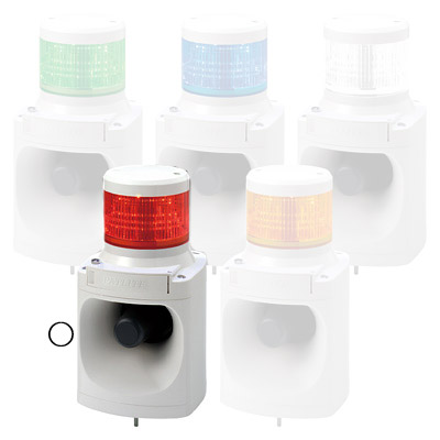 パトライト LED積層信号灯付電子音報知器 LKEH-120FD-R【納期目安:1週間】