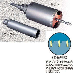 ミヤナガ ALC用コアドリルSDSセット PCALC55R