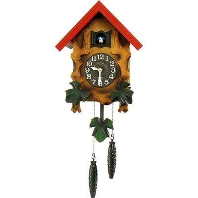 リズム時計 掛け時計 ハト時計 鳴り止めスイッチ付き 木枠 カッコーメルビルR(彩色仕上げ) 4MJ775RH06