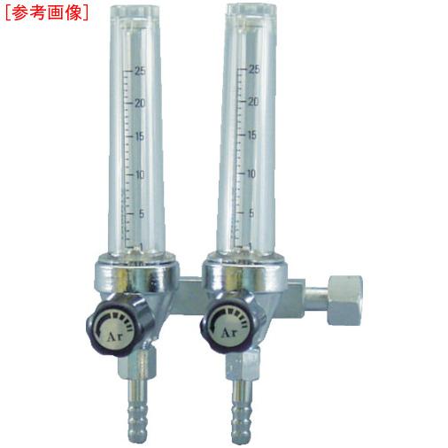 ヤマト産業 ヤマト フロート式流量計二連式 F2M-25-HE 4560125829314