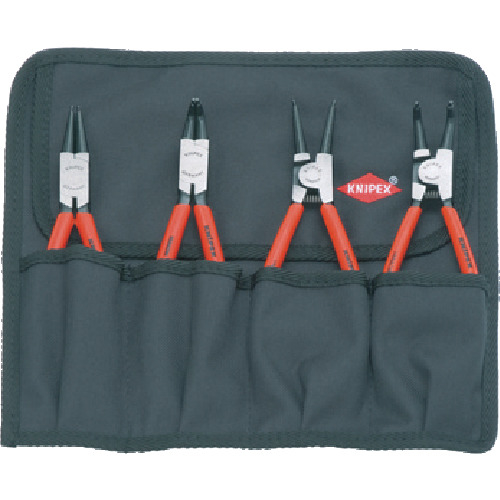 KNIPEX社 KNIPEX 4本組 スナップリングプライヤー 4003773030973