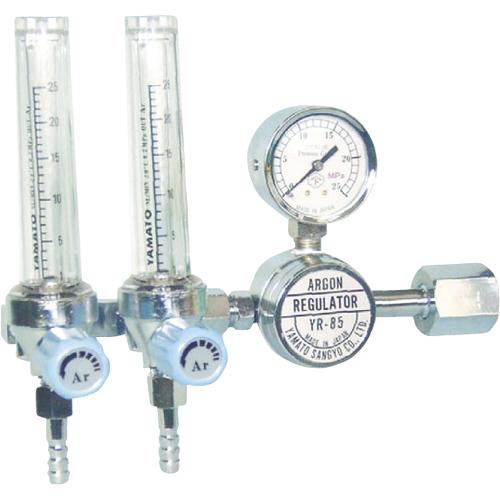 ヤマト産業 ヤマト 二連式流量計付アルゴン用圧力調整器 YR-85F2 4560125828089