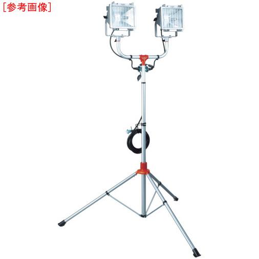 ハタヤリミテッド ハタヤ 防雨型スタンド付ハロゲンライト 500W×2灯 100V接地付電線5m 4930510321578