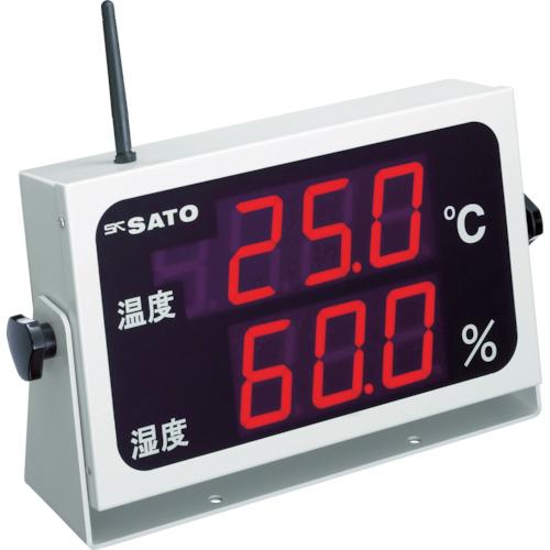 佐藤計量器製作所 佐藤 コードレス温湿度表示器(8102-00) 4974425800476