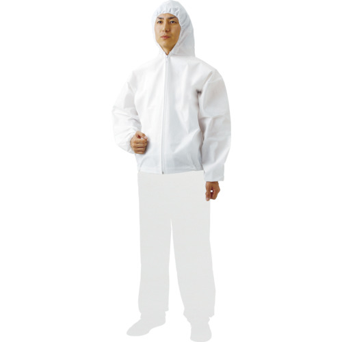 トラスコ中山 TRUSCO まとめ買い 不織布使い捨て保護服フード付ジャンバー LL 60着入 4989999335859