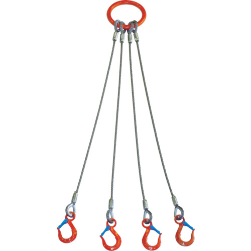 大洋製器工業 大洋 4本吊 ワイヤスリング 5t用×2m 4580159599700