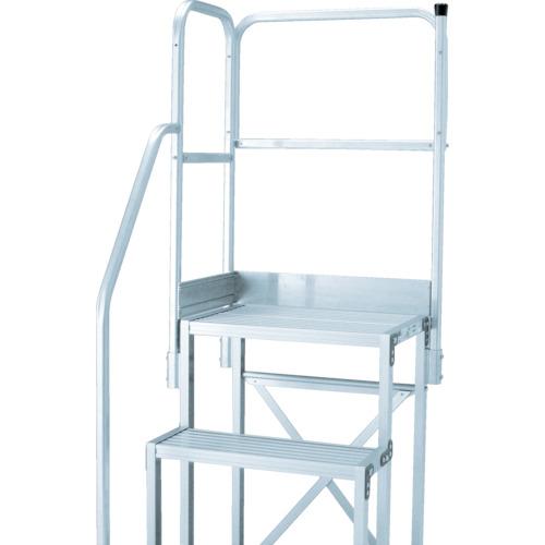 トラスコ中山 TRUSCO 作業用踏台用手すり H1100 階段片手すり天場二方TSF-369 4989999336986