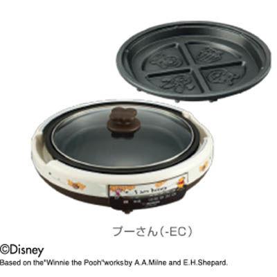 象印 「プーさんの焼き型プレート」と「平面プレート」の2枚組グリルパン EA-MC20P-EC