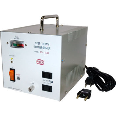 日章工業 ハイクラスダウントランス(AC220V/240V切換、1500W) SDX-1500