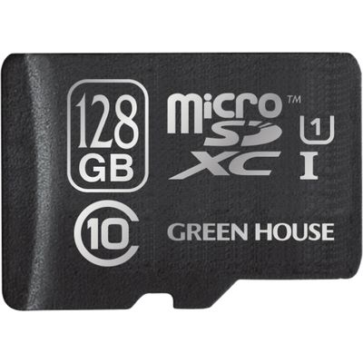 グリーンハウス 最大80MB/s、UHS-の高速microSDXCカード 128GB GH-SDMRXCUB128G
