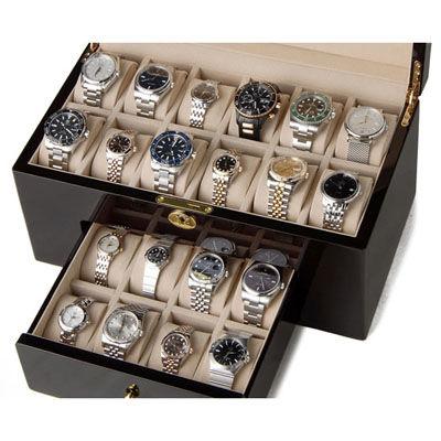 ロイヤルハウゼン 時計収納ケース 腕時計 20本収納 ケース ウォッチケース ダークブラウン 時計雑貨 GC02-LG4-20