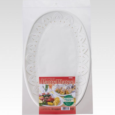 サンナップ 使い捨て皿 2枚入 パーティプレート 白(レースペーパー付)【120個セット】 4901627028780