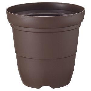 リッチェル カラーバリエ 長鉢 6号 コーヒーブラウン (プラスチック製 植木鉢 プラ鉢)【60個セット】 4973655751640