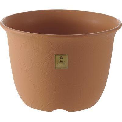 リッチェル ムール ポット 5号 ブラウン (プラスチック製 植木鉢)【60個セット】 4973655794517【納期目安:1週間】