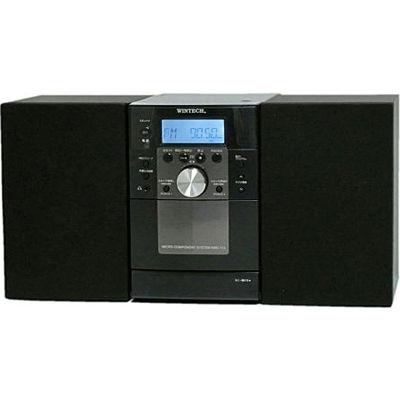 WINTECH CDカセットミニコンポ(ブラック) KMC-113【納期目安:04/中旬入荷予定】