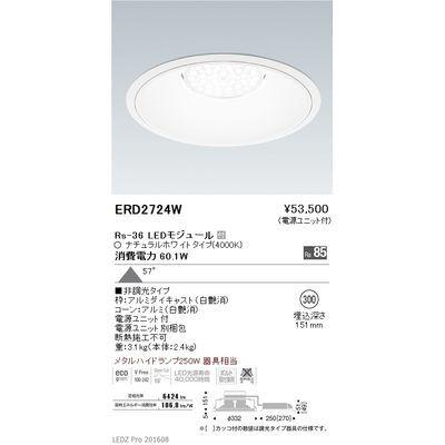 遠藤照明 LEDZ Rs series リプレイスダウンライト ERD2724W