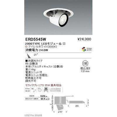 遠藤照明 LEDZ ARCHI series リプレイスユニバーサルダウンライト(アジャスタブルタイプ) ERD5545W