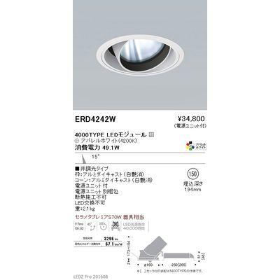 遠藤照明 LEDZ ARCHI series ユニバーサルダウンライト ERD4242W