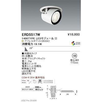 遠藤照明 LEDZ ARCHI series ダウンスポットライト ERD5517W