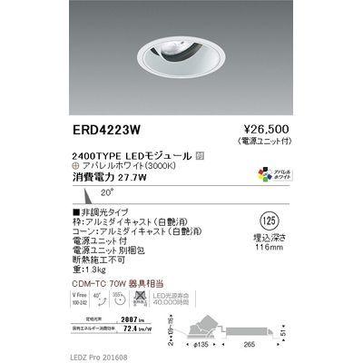 遠藤照明 LEDZ ARCHI series ユニバーサルダウンライト ERD4223W