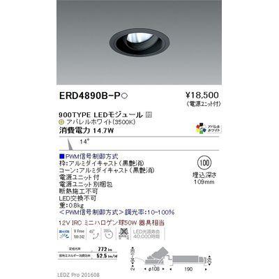 遠藤照明 LEDZ ARCHI series ユニバーサルダウンライト ERD4890B-P