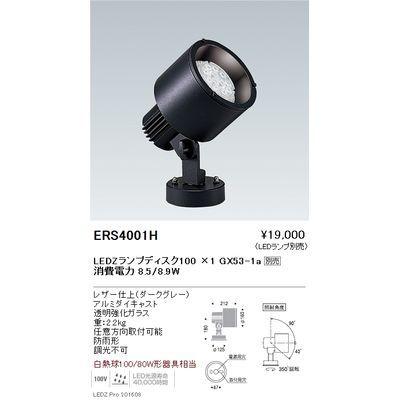 遠藤照明 LEDZ LAMP Disk series アウトドアスポットライト ERS4001H