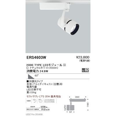 遠藤照明 LEDZ ARCHI series スポットライト ERS4603W