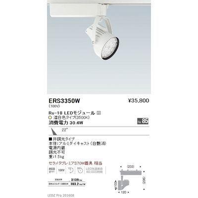 遠藤照明 LEDZ Rs series スポットライト ERS3350W