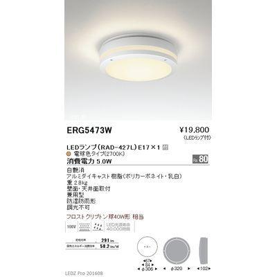 遠藤照明 STYLISH LEDZ series アウトドアブラケットライト/アウトドアシーリングライト ERG5473W