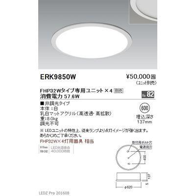 遠藤照明 LEDZ TWIN TUBE series デザインベースライト 下面乳白パネル形 ERK9850W