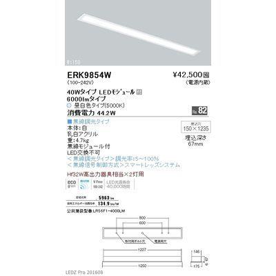 遠藤照明 LEDZ FLAT BASE series ベースライト 下面乳白パネル形 ERK9854W