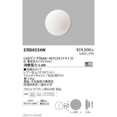 遠藤照明 アウトドア ブラケット〈LEDランプ付〉 ERB6534W