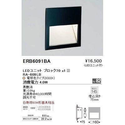遠藤照明 ブラケットライト〈LEDユニット付〉 ERB6091BA