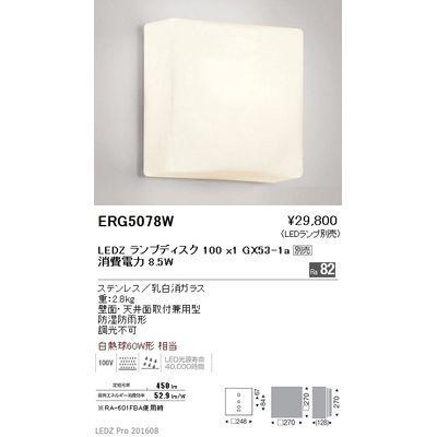 遠藤照明 アウトドア ブラケット〈LEDランプ別売〉 ERG5078W